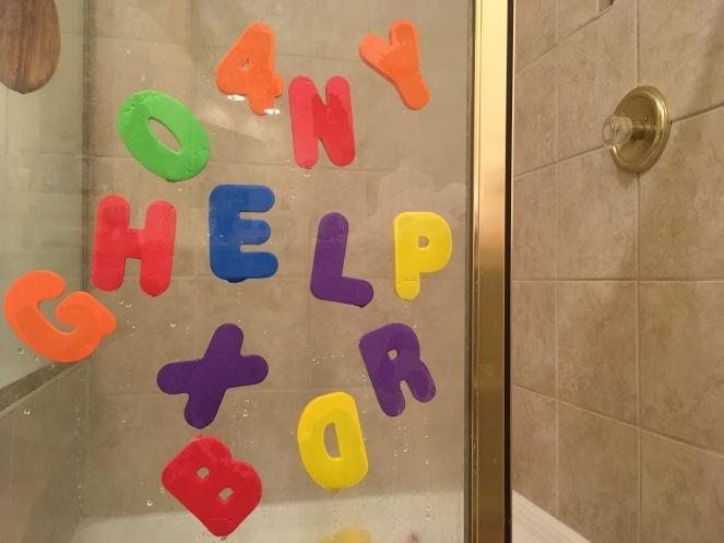 foam shower letters